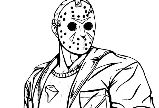 freddy vs jason drawings sketch coloring page