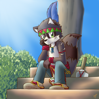 Art Trade : Raccoon by kiyochii