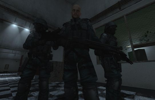 Underhell - Jake Hawkfield, and two U.D.R.C Guards by xXWarrior250Xx