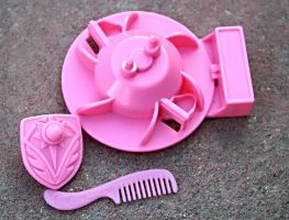 She Ra Spinnerella Doll Replica Stand Shield Comb by StarlightStudioProps
