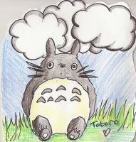 Crayon Totoro by The-Cyclops