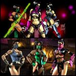 3 Girls: Mileena, Kitana and Jade 004 by DenyloveThomas