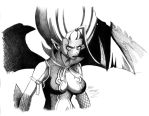 Fairy tail Mirajane demon by Angy89