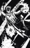 black and white Gambit by lessthanpopular