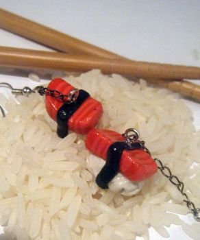 Sushi Earrings by Mika-Chan-Ness