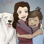Young Korra and Asami by Gwenola295