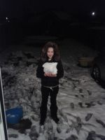 me in snow :) by olivia9987