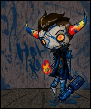 'uH, tHEY DO SAY, i DROP A PRETTY SICK FIRE,,,' by Echidna-kid