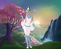 Smurfette Goddess of the enchanted forest art. by Smurfette123