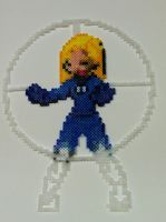 Perler Bead: Invisible Woman by thewiredslain