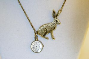 Wonderland Rabbit Necklace by MonsterBrandCrafts