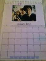 Merlin/HP/1D/Dr. Who Calendar - January by GryffindorPrincess74