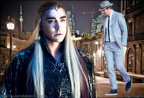role and actor Thranduil and Lee Pace by OlgaVPirogova