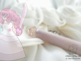 Rose Quartz' Wand V (the tip) by SilverRaven1408
