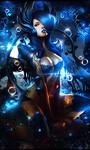 Lady In Blue by Vionas