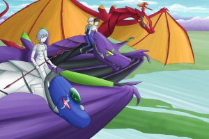 NGE - Dragonriders by Cold-Creature