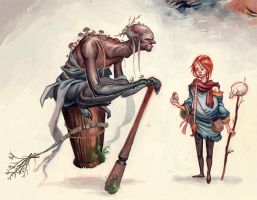 Vasillisa and the Baba Yaga by Biffno