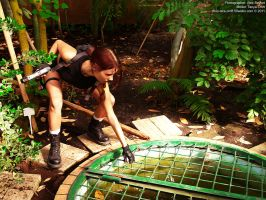 Lara Croft and chemical mixtures by TanyaCroft