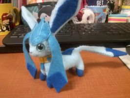 Shiny Simplified Glaceon OC Plush by Vulpes-Canis