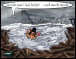 Snooki during hurricane Sandy by Jerseydigitialartist