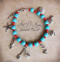 The Little Mermaid Beaded Charm Bracelet by ArteDiAmore