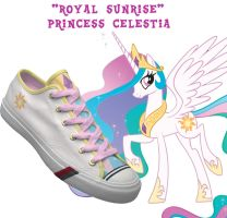 Princess Celestia shoes by DoctorRedBird