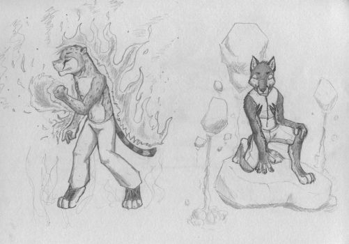 Wind,water,fire,earth part 2 by Wandering-wolves