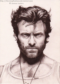 Hugh Jackman as Wolverine by MorningSadness