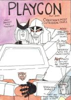 PlayCon: Ratchet and Megatron by Darkenlite
