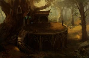 Elven store by yamame