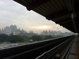 Taipei from a Train Station by jmasker