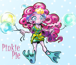 Pinkie Pie (Tries) Cheering Up the Dragon by Thinston