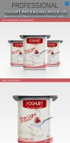 Yogurt packaging Mockup by idesignstudio
