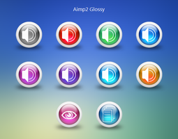 Aimp2 Icons GLOSSY by EXO-02