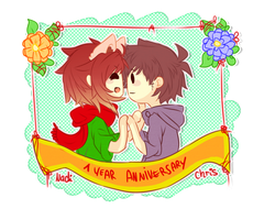 Happy 1 Year together! by Nadi-Chan