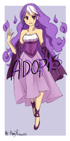::Adopts:: Hair-In-Purple-Fire Witch (SOLD) by Tobi1313