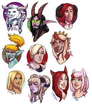 [commission] Streamed Headshots 1 - 2017 by SirMeo