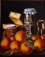 my copy of Melendez - still life with oranges  by mjdezo