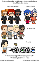 Scribblenauts Character Suggestions 1 by McGenio
