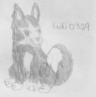 Lulu the Black and White Lupe by closeyoureyes0329