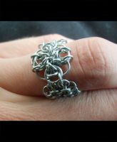 Chainmail Flower Ring by Pimda