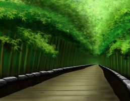 Bamboo Forest Unfinished by longgi