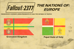 Flags of Fallout 2377 Europe Nations by lordelpresidente