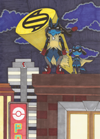 Holy Mega Evolution, Mega Lucario! by MidniteSilven