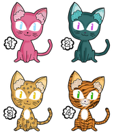 Kitty Adoptables 10-15points [closed] by anineko