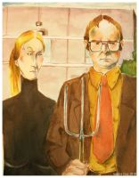 Dwight Meets American Gothic by Cruzle