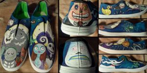 Nightmare Before Christmas Shoes by fionabird