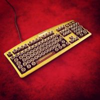 Steampunk Keyboard (2) (One Off Prototype) by HannaLTD