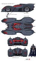 DCU MMO Batmobile design by Chuckdee
