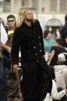 man in trench coat dancing by alekzab